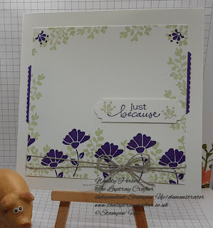 Just because card using the Lovely You stamp and punch bundle from Stampin' Up!