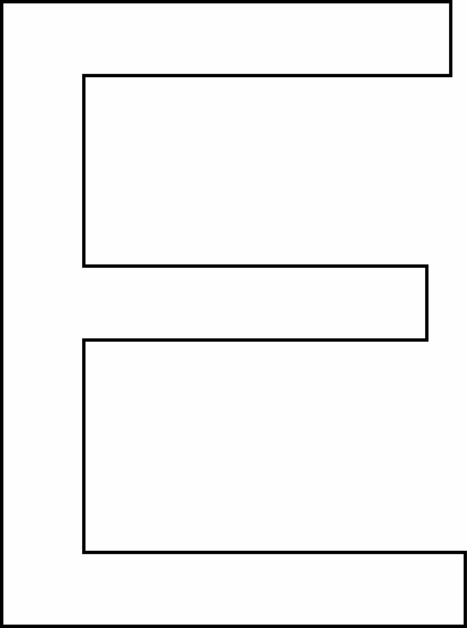 Letra e - maiúscula para imprimir