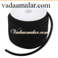 Black thread for Bharathnatiyam makeup