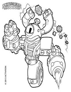 Skylanders Swap Force Magna Charge Coloring Pages