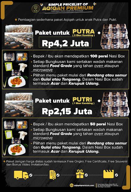 Aqiqah Premium. Pricelist paket aqiqah anak laki-laki dan perempuan