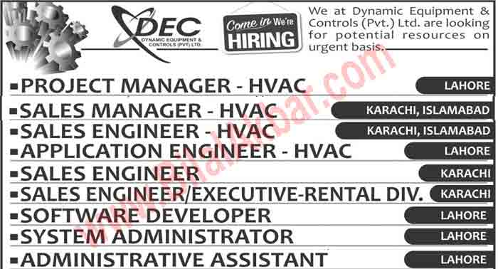 Engineering Jobs In Dynamic Equipment Controls (DEC)