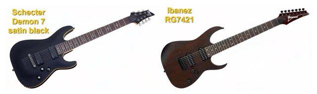 Guitarras Eléctricas de 7 Cuerdas Schecter Demon 7 Vs Ibanez RG7421