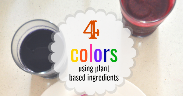 Four-Eyed Cook: 4 Food Colors with Plant Based Ingredients