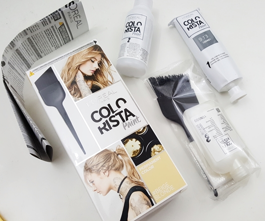 colorista, loreal, l'oreal, paint, review, testbericht, bericht, test, beigeblod, haarfaarbe, colour, color, coloration, haare, farbe, vorher, nacher,