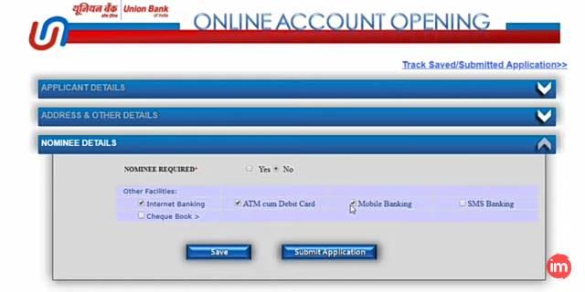 Union bank me online saving account kaise khole