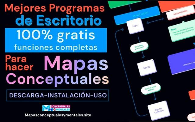 Mejores programas de escritorio para hacer mapas conceptuales gratis