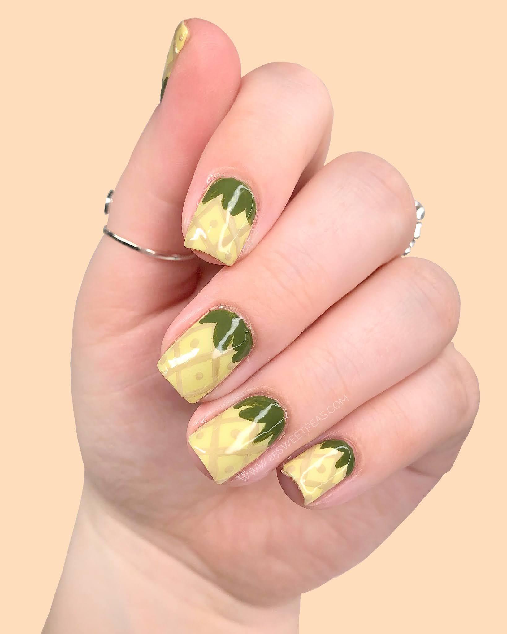 Pineapple Nail Art 25 Sweetpeas