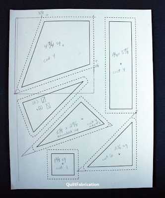 quilt templates on paper