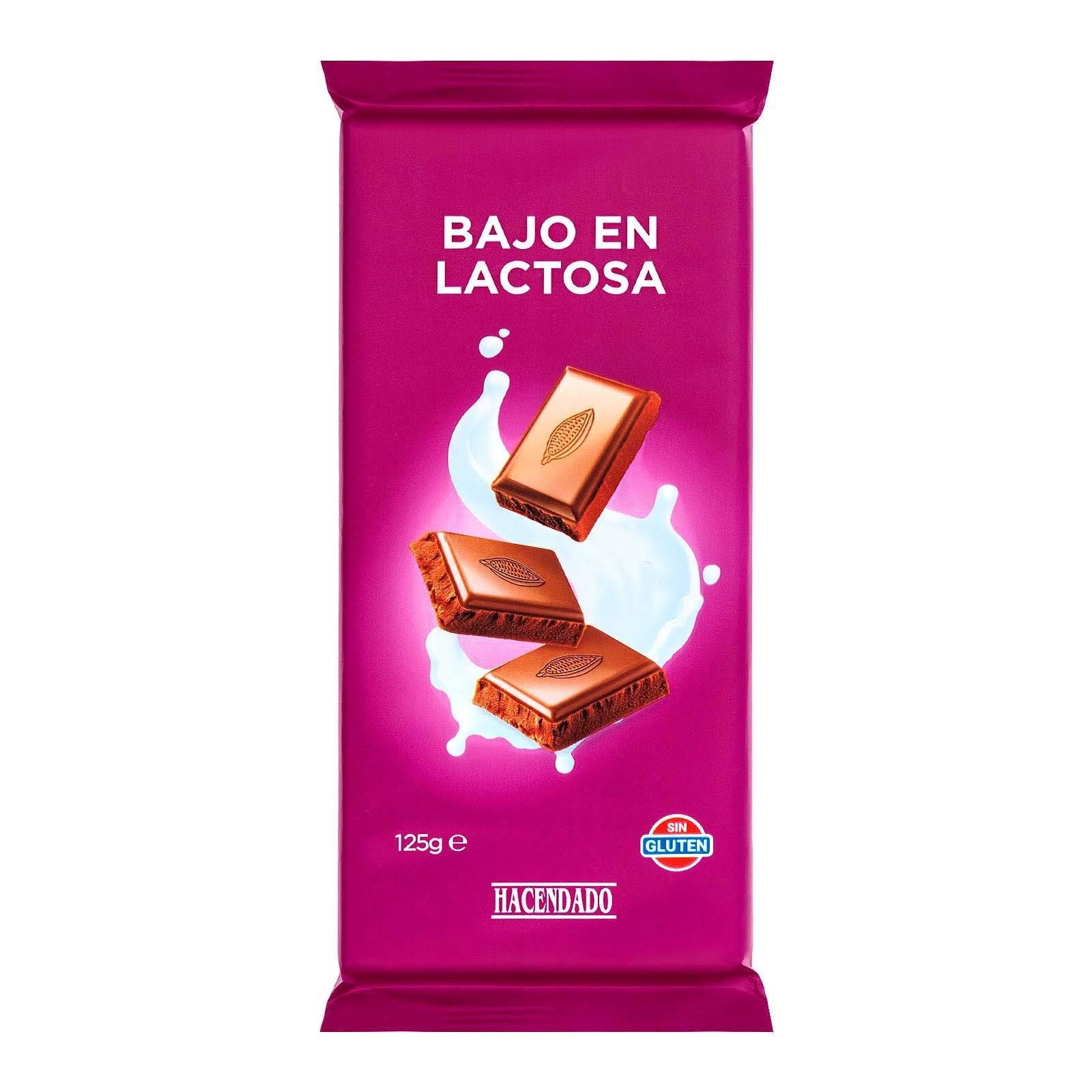 Chocolate con leche bajo en lactosa Hacendado