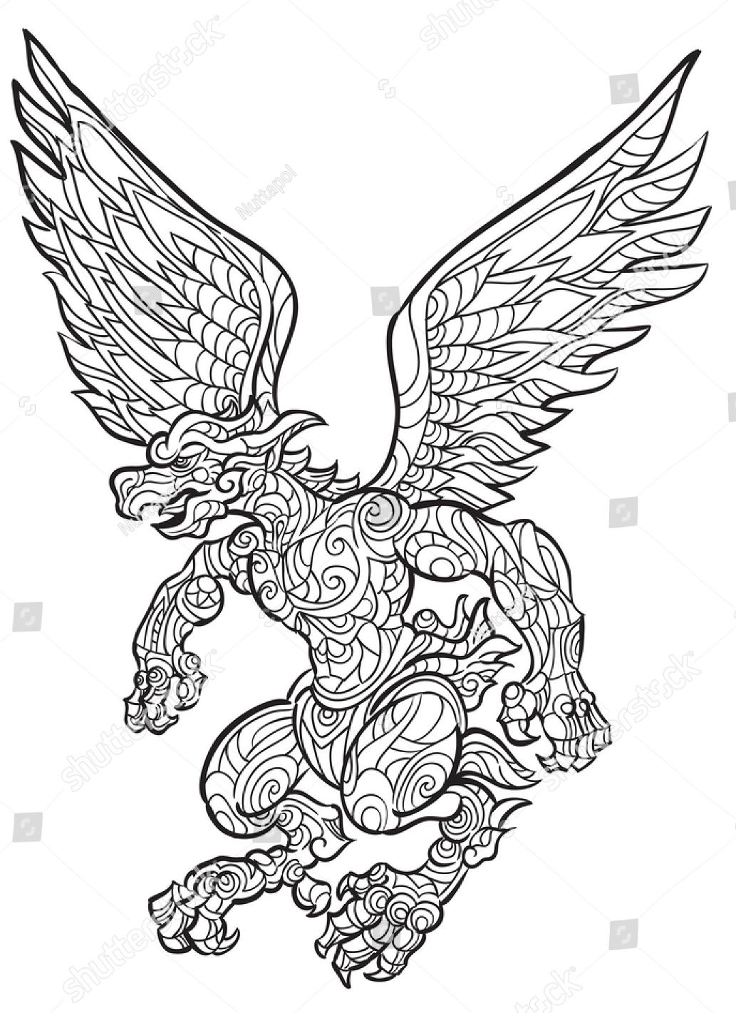 Koleksi Gambar Sketsa Lambang Garuda Terbaru