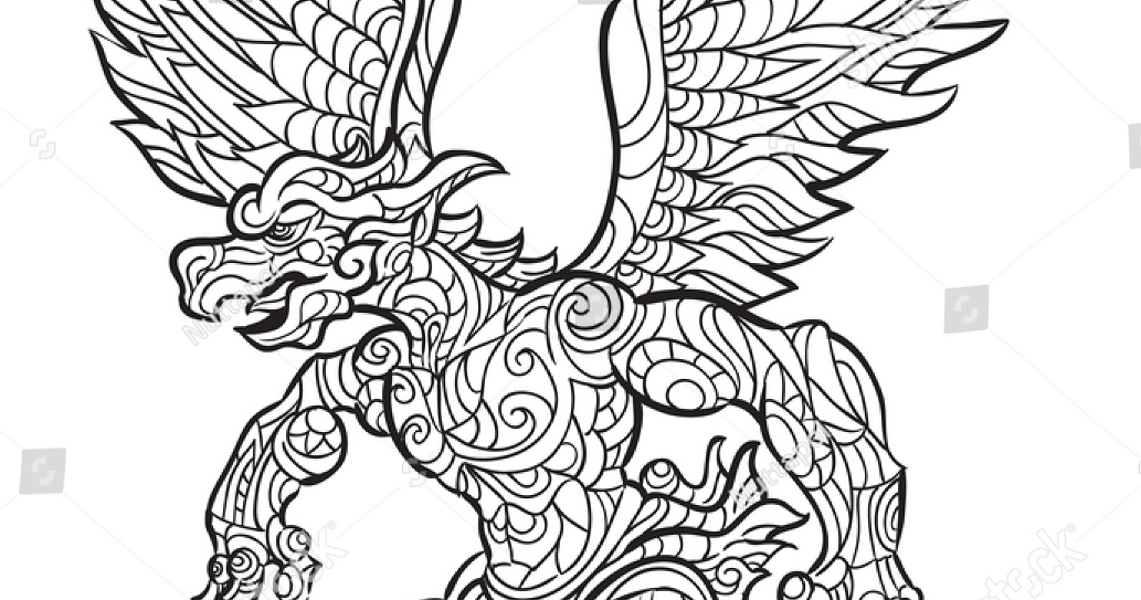 Gambar Mewarnai Hitam Putih Burung Garuda Terbaru Gambarcoloring