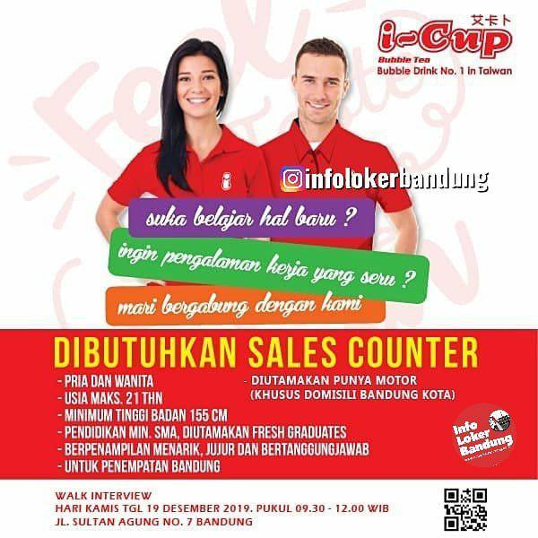 Lowongan Kerja I-Cup Bubble Drink Bandung Desember 2019