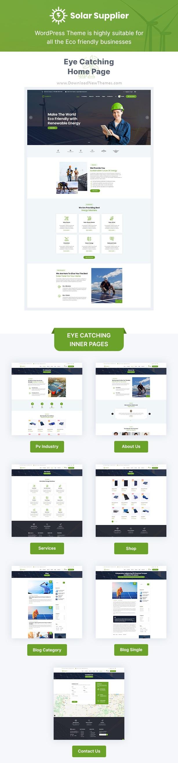 Wind & Solar Energy WordPress Theme