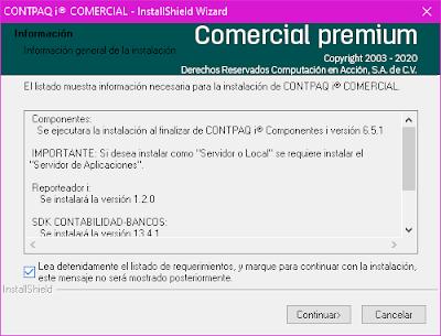Compu++ - Instalar Contpaqi© Comercial, listado de requerimientos