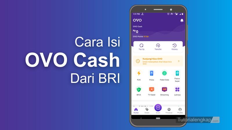 Tutorialengkap Cara isi Ovo Cash Dari Bri Mobile Banking atau ATM BRI