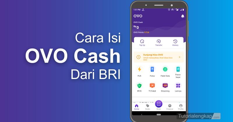 up ovo cash melalui bri mobile banking