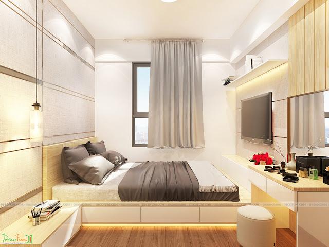 Nội thất phòng Master chung cư 65m2 - 2 phòng ngủ