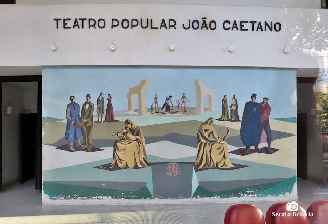 Close-up do Painel do Hall de entrada do Teatro Popular João Caetano - Vila Clementino - São Paulo