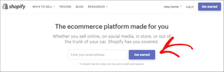 Mulai dengan Shopify
