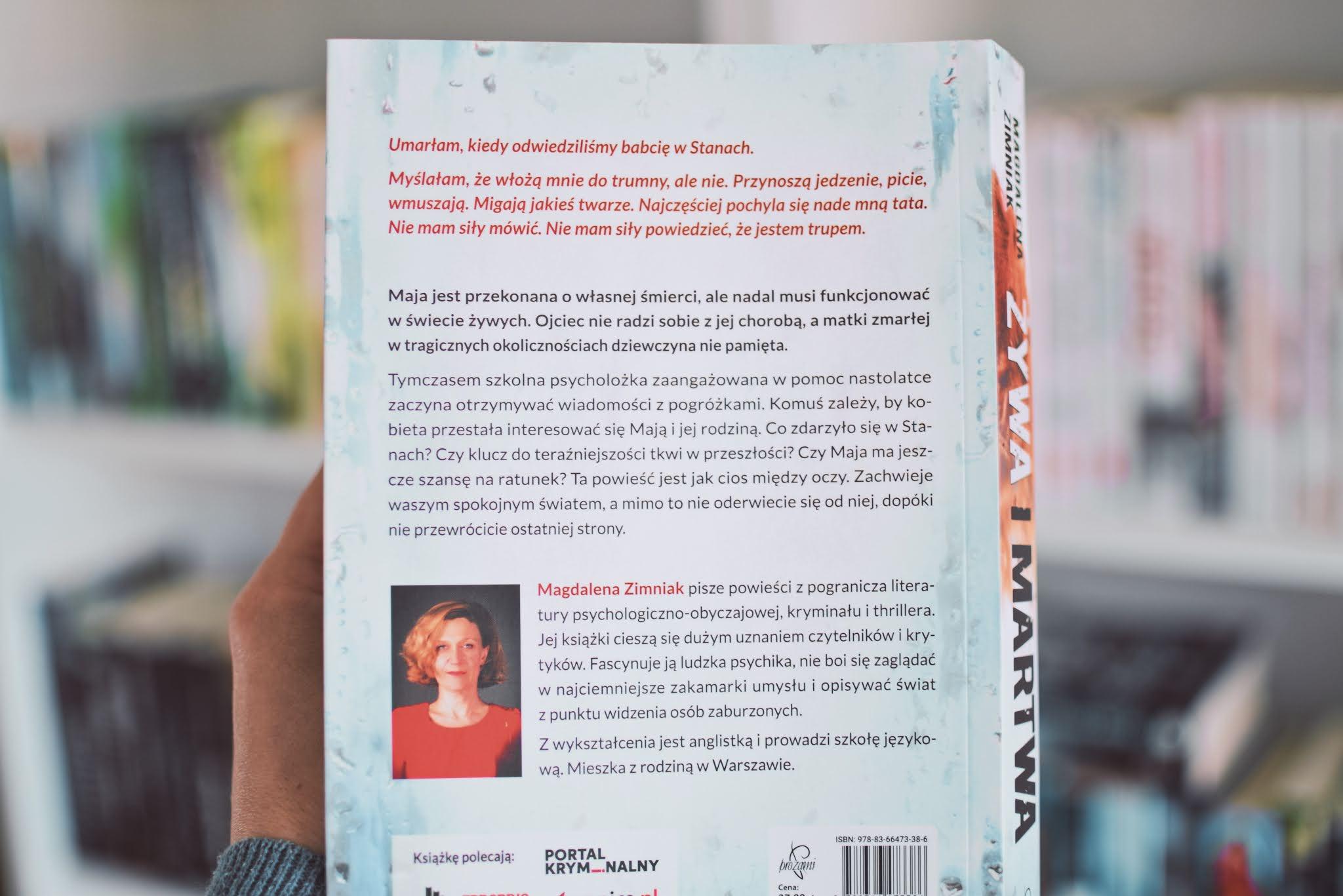 ŻywaIMartwa,MagdalenaZimniak,WydawnictwoProzami,thriller,pedofil,rodzina,opowiadanie,recenzja