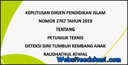 Juknis Deteksi Dini Tumbuh Kembang Anak RA 2019