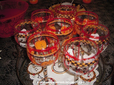 Margaret's Morsels | Halloween Drinking Glasses Rimmed with Fake Blood