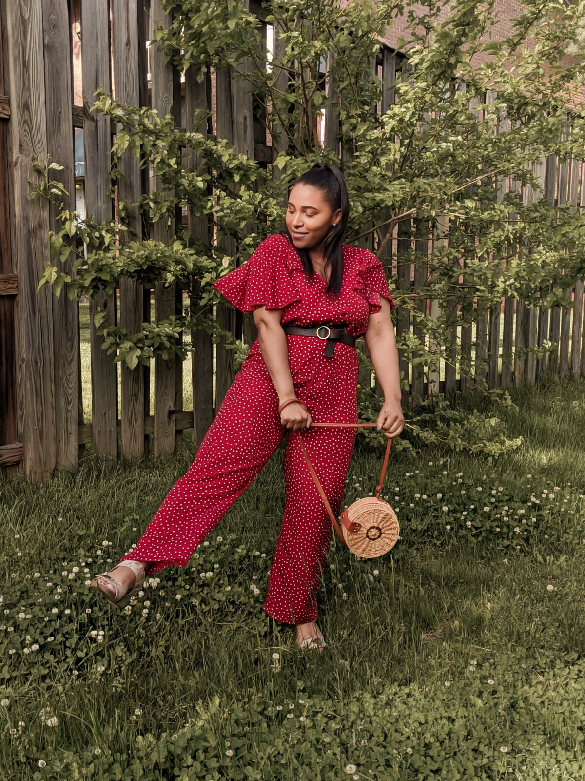 shein, shein reviews, shein jumpsuits, polka dot outfits, summer jumpsuits, how to style a jumpsuit, pattys kloset, easy summer outfits, how to style polka dots