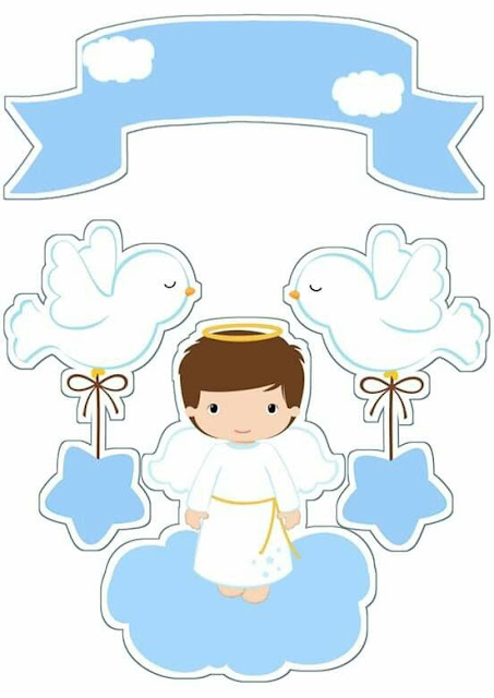 Boy with pigeons: Free Printable Toppers.