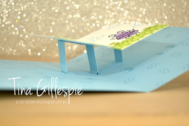scissorspapercard, Stampin' Up!, Wiggle Worm, Stampin' Blends, Fancy Fold, Pop Up Panel Card
