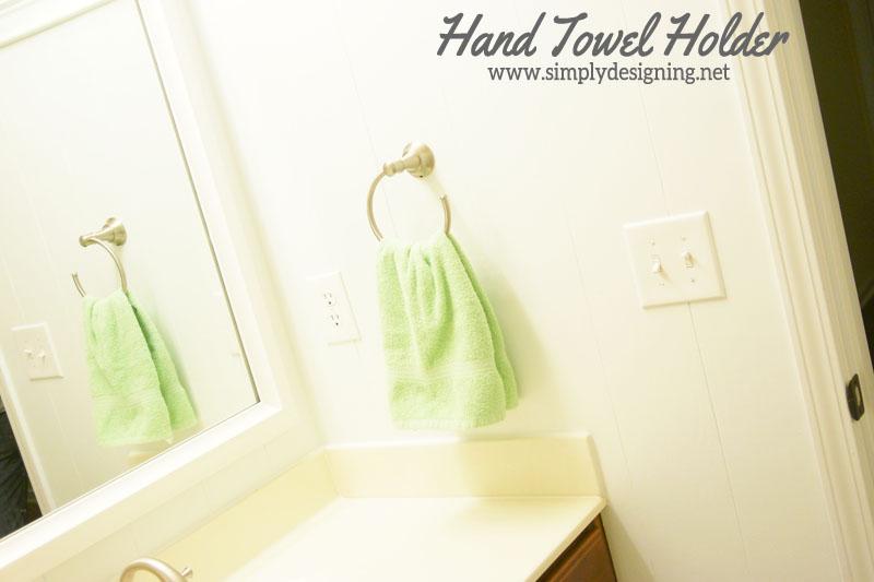 How To Install A New Hand Towel Holder | #diy #bathroom #bathroomremodel #
