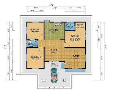Hiasan Simple Master Bedroom Bagi Rumah Teres Setingkat