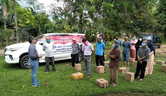 Reses, Anggota DPRD Lampung Midi Iswanto Ajak Warga Lamteng Patuhi Protokol Covid-19