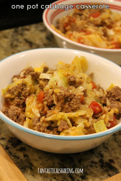 One Pot Cabbage Casserole #recipe #onepotrecipe #onepotmeal #casserole #cabbage