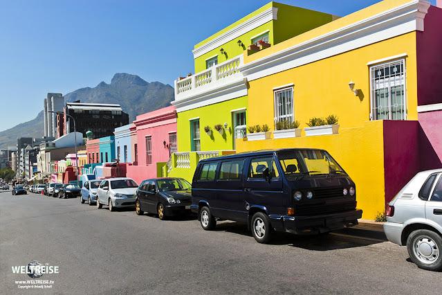 Bo-Kaap Viertel in Kapstadt www.WELTREISE.tv