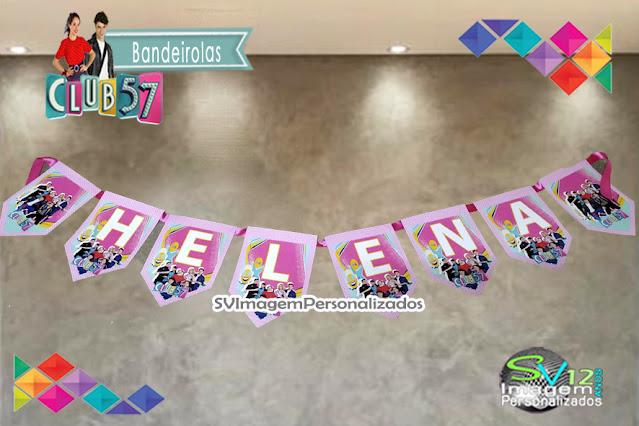 Bandeirolas Club 57 festa anos 60 dicas e ideias para decoração de festa personalizados