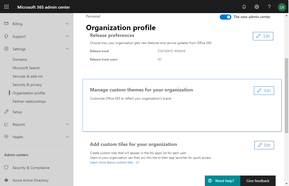 sharepoint online suite bar customize