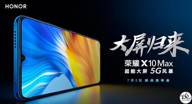 شاشة honor x10 max