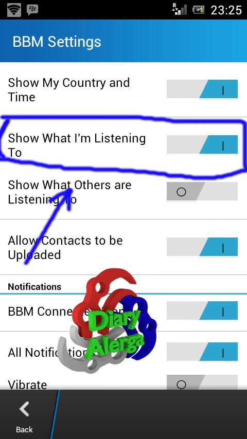 bbm android bisa update status musik
