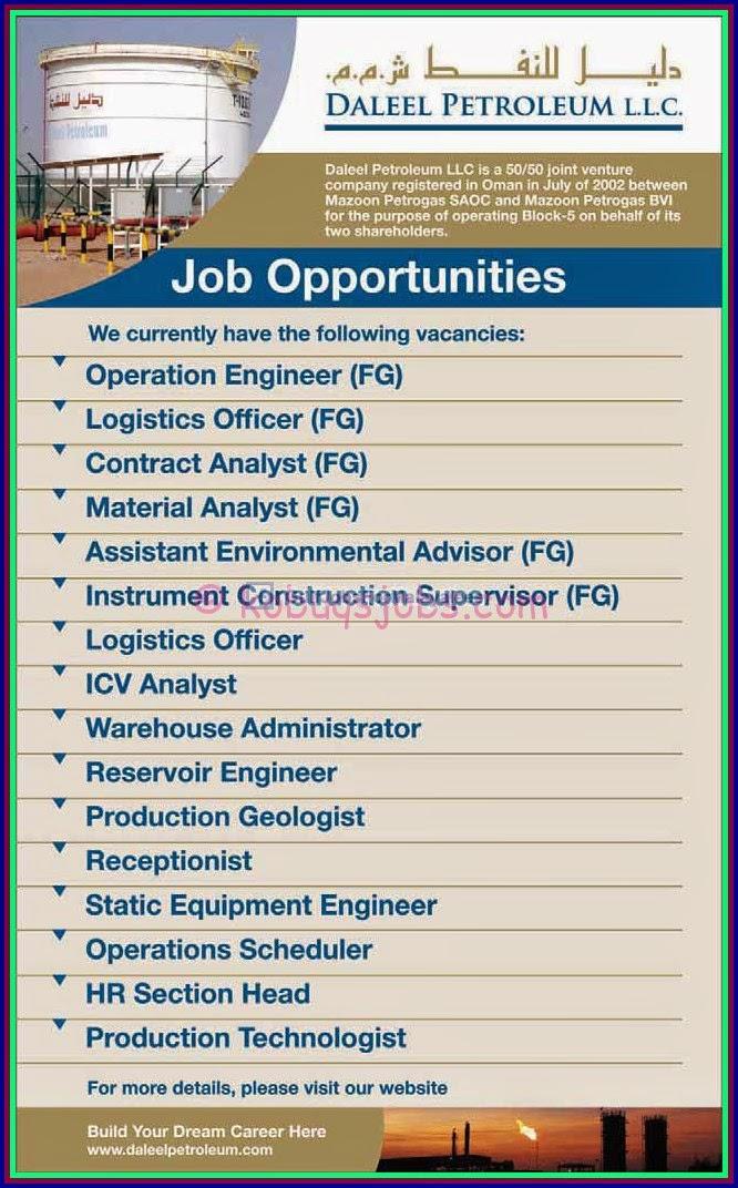 Gulf Jobs Bank: Daleel petroleum LLC Company registered in
