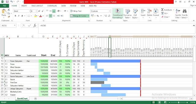 Free Gantt Chart Template in Excel