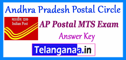AP Andhra Pradesh Postal Circle MTS Answer Key 2017