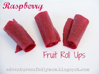 Homemade Raspberry Fruit Roll Ups