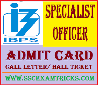 IBPS Special Officer Admit Card