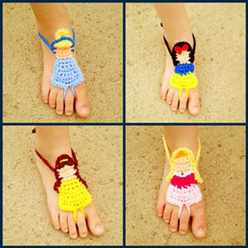 Crochet Barefoot Sandals for Summer - 10 Free Patterns