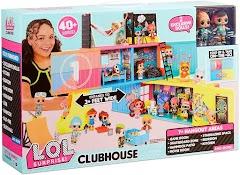 Клубный кукольный дом L.O.L. Surprise Clubhouse 2020 с 40 сюрпризами и 2 куклами