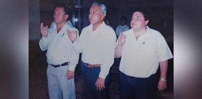 Miguel Rojas (izq), José Mercado (centro) y Óscar Pérez (+) (der.)