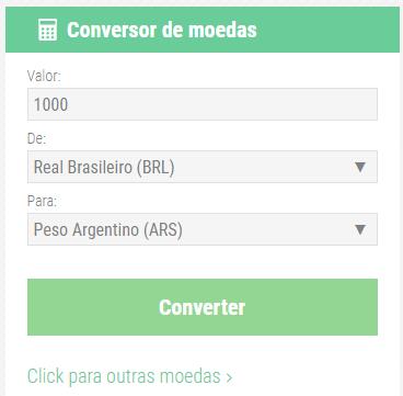 Cotacao Do Peso Argentino