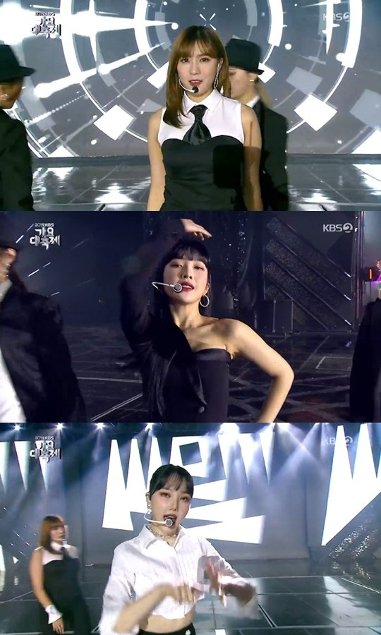 Joy, Yerin ve Hayoung, 2019 KBS Gayo Festivalinde birlikte sahne aldı