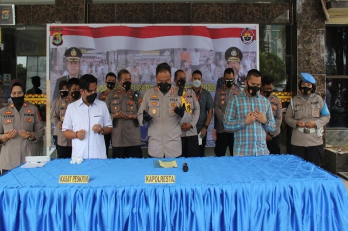 Polresta Bandar Lampung Gelar Konferensi Pers Akhir Tahun 2020